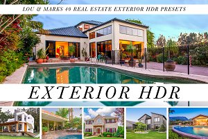 40 Exterior Real Estate HDR Presets