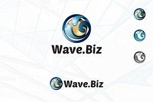 3D Wave Water Ball Nature Logo