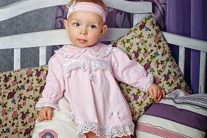 Little girl in nursery