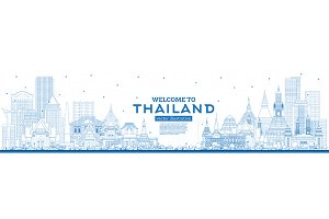Outline Welcome to Thailand City Sky