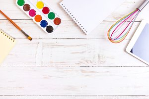 Process of creativity. Workplace
