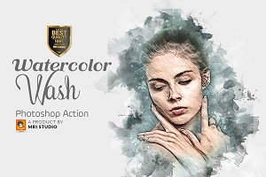 Watercolor Wash Photoshop Action 2