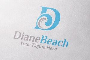 Beach Holiday | Letter D Logo