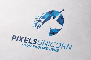 Pixels Digital Unicorn Logo