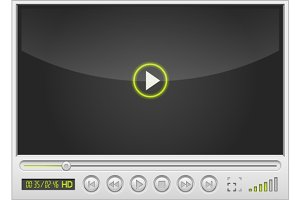 video movie media player interface