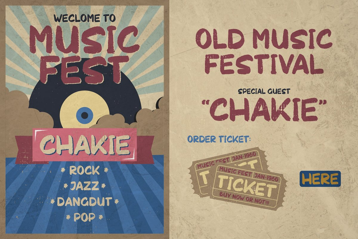 CHAKIE - Retro Brush Font in Display Fonts - product preview 8