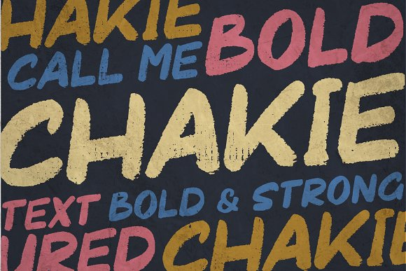 CHAKIE - Retro Brush Font in Display Fonts - product preview 1