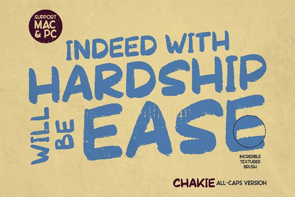 CHAKIE - Retro Brush Font in Display Fonts - product preview 3