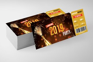 New Year Party Ticket Templates