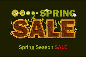 large set of spring and Easter sales