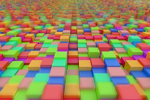 Colored blocks