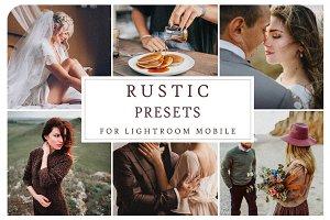 Lightroom Mobile RUSTIC PRESETS