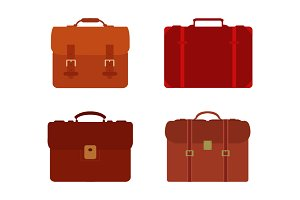 Set of work bag in vector