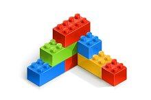 brick wall meccano toy