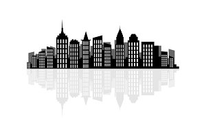 New York skyline in vector