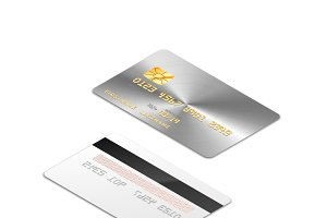 Silver realistic credit card