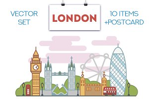 """""""London"""" - a set of vector images"""
