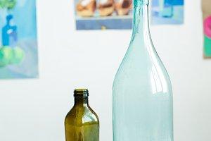 Vintage Glass Medicine Bottles