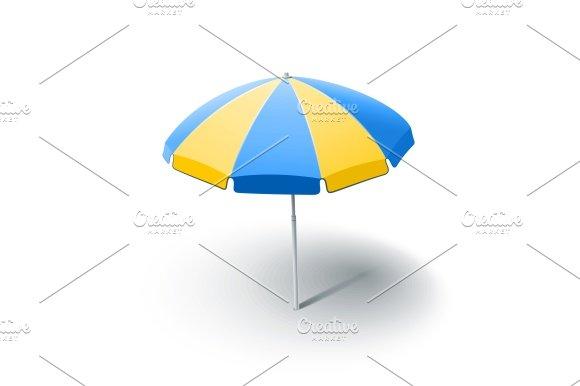 beach sunshade in Illustrations