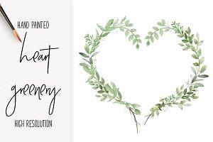 Heart Shaped Greenery Wreath