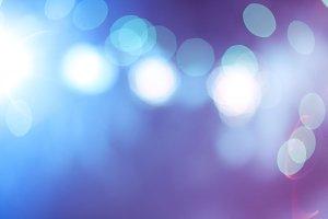 Blue Abstract Bokeh Lights