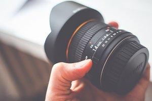 Wide Lens in Hand