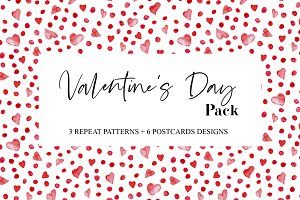 Valentine's Day Pack Pattern&Cards