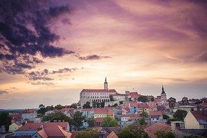Mikulov City Landscape, Czech Republ