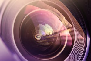 Colorful DSLR Lens Close Up #2