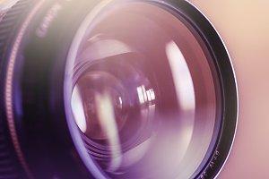 Colorful DSLR Lens Close Up #1