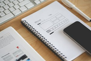 Webdesign Layout Sketching