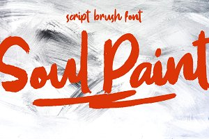 SOUL PAINT Brush Font