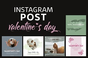 Valentines Instagram Post Templates