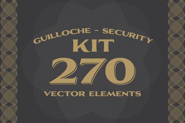 270 Vectors : Guilloche/Security Ki…