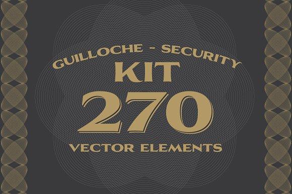 270 Vectors : Guilloche/Security Kit