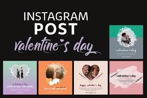 Valentine Instagram Post Templates