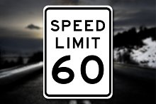 New Speed Limit 60 Sign Decal by Nicholas Ritter in Metal