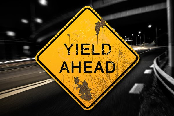 3D Metal: PixelMonster - Rusted Yield Ahead Sign Decal