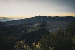Mount Bromo town at sunrise
