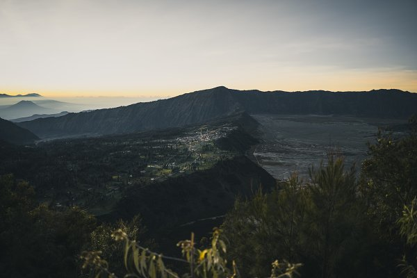 Stock Photos: Wilson's Photography Co. - Mount Bromo town at sunrise