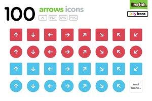 100 Arrows Icons - 2 - Jolly