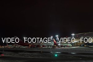 Timelapse of airport routine in