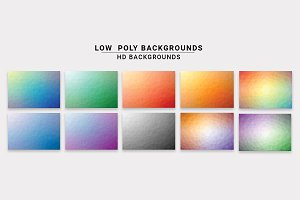 10 Low Poly Backgrounds