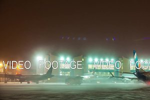 Timelapse shot of Sheremetyevo