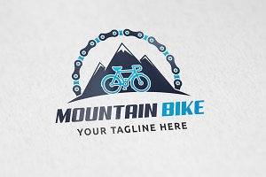 Mountain Biking - Logo Template