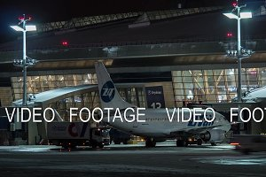 Timelapse of airport routine at