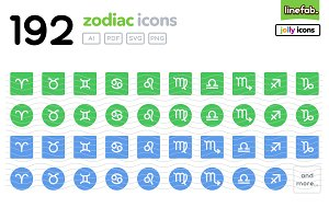 192 Zodiac Icons -Jolly