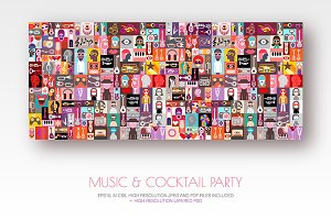 Music & Cocktail Party vector design