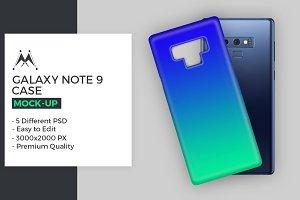 Galaxy Note 9 Case Mockup