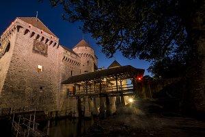Castle of Chillon on Switzerland